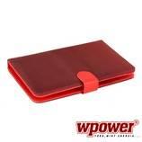 """WPOWER 8"""" Billentyűzetes Tablet tok, mintás, piros, EN-HU"""