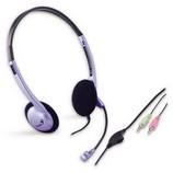 Genius HS-02B mikrofonos fejhallgató