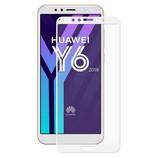 Huawei Y6 2018 edzett üveg kijelzővédő fólia, fehér