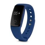 ID107 fitnesz óra pulzusmérővel, kék