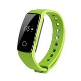 ID107 fitnesz óra pulzusmérővel, zöld