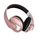 JKR 218B Bluetooth fejhallgató, MP3, FM rádió, rózsaarany