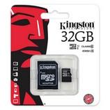 Kingston microSDHC 32GB Class10 memóriakártya, SD adapterrel
