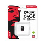 Kingston MicroSDXC 64GB memóriakártya Class10+UHS-1