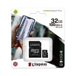 Kingston Canvas Select Plus 32GB MicroSD memóriakártya+adapter