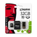 Kingston 32GB microSDHC Class10 memóriakártya+adapter+kártyaolvasó