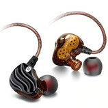 QKZ KD4 Dual Driver vezetékes fülhallgató és headset, fekete