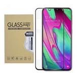 Samsung Galaxy A40 edzett üveg kijelzővédő fólia, fekete