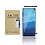 Samsung Galaxy S10+ edzett üveg kijelzővédő fólia, fekete