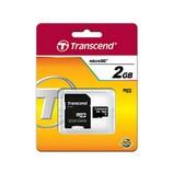 Transcend 2GB MicroSD memóriakártya+SD adapter