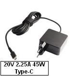 Univerzális USB Type-C hálózati adapter-töltő 45W