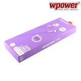 Wopow LB103 Micro-USB kábel 1.0m, lila